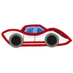 Race Cars Applique 6 5x7