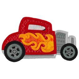 Race Cars Applique 7 5x7