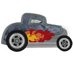 Race Cars Applique 8 5x7