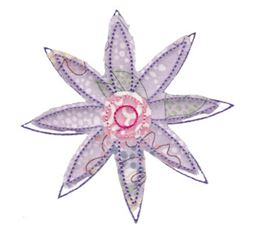 Raggedy Flowers Applique 7