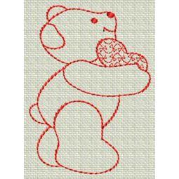 Redwork Bears 17
