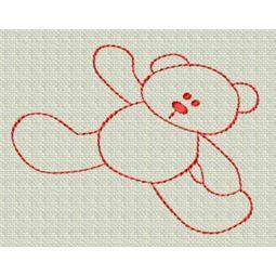 Redwork Bears 3