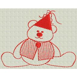 Redwork Bears 7