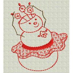 Redwork Christmas 10