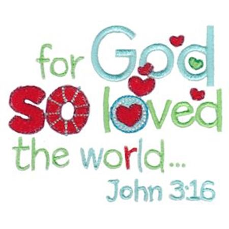 So God So Love The World