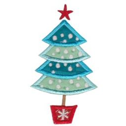 Retro Christmas Applique 1