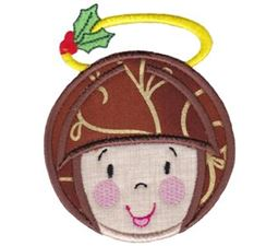 Round Christmas Applique 1