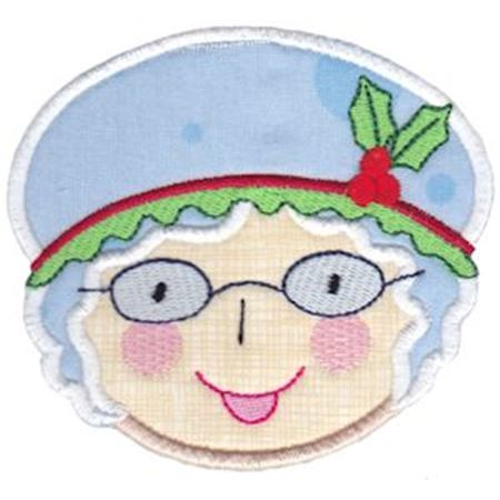 Round Christmas Applique 10