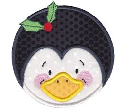 Round Christmas Applique 11
