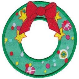 Round Christmas Applique 16