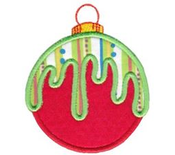 Round Christmas Applique 4