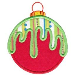 Round Christmas Applique 4