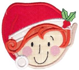 Round Christmas Applique 6