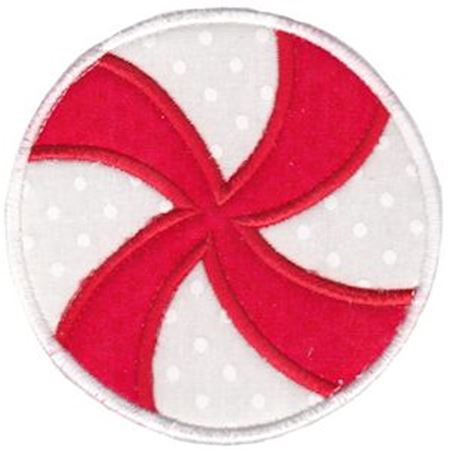 Round Christmas Applique 7