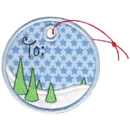 Round Christmas Applique 8