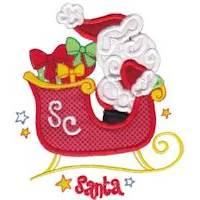 Santas Sleigh Applique 5x7