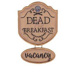 Dead Breakfast Vacancy Sign Applique