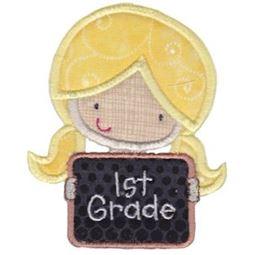 1st Grade Girl Applique