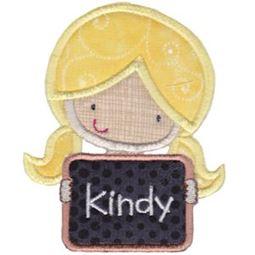 Kindy Girl Applique