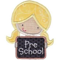 Pre School Girl Applique