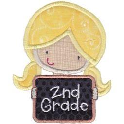 2nd Grade Girl Applique
