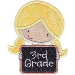 3rd Grade Girl Applique