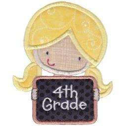 4th Grade Girl Applique