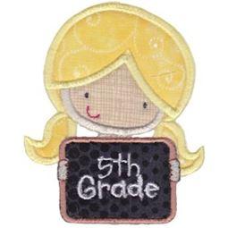5th Grade Girl Applique