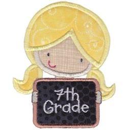 7th Grade Girl Applique