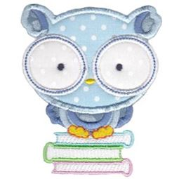 Book Owl Applique