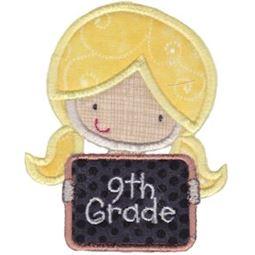 9th Grade Girl Applique