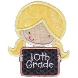 10th Grade Girl Applique