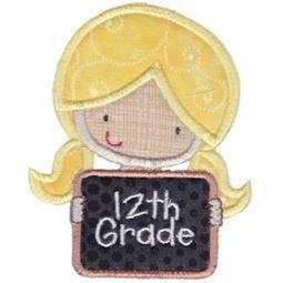 12th Grade Girl Applique