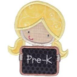 Pre K Girl Applique