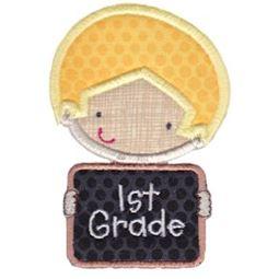 1st Grade School Boy Applique