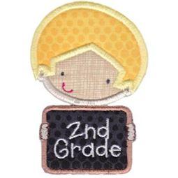 2nd Grade School Boy Applique