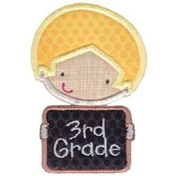 3rd Grade School Boy Applique