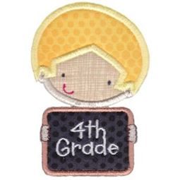 4th Grade School Boy Applique