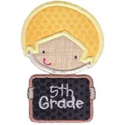 5th Grade School Boy Applique