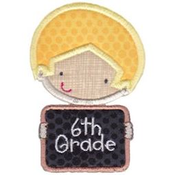 6th Grade School Boy Applique