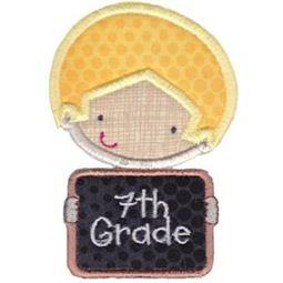 7th Grade School Boy Applique