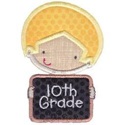 10th Grade School Boy Applique