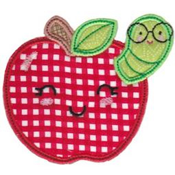 Apple and Worm Applique