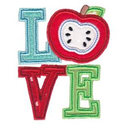 Apple Love Applique