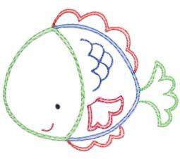 Fish Vintage Stitch