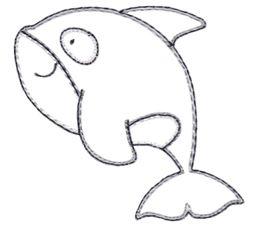 Whale Vintage Stitch