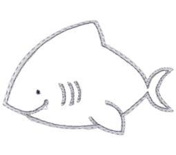 Shark Vintage Stitch