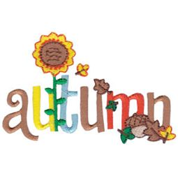Autumn Word Art
