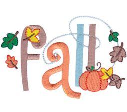 Fall Word Art