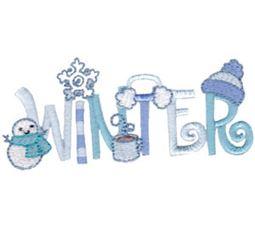 Winter Word Art